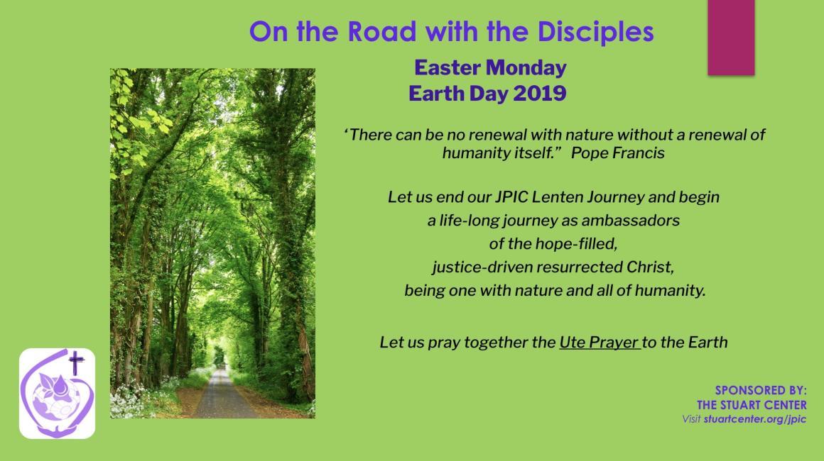 JPIC Lenten Journey: Easter Monday (Earth Day)