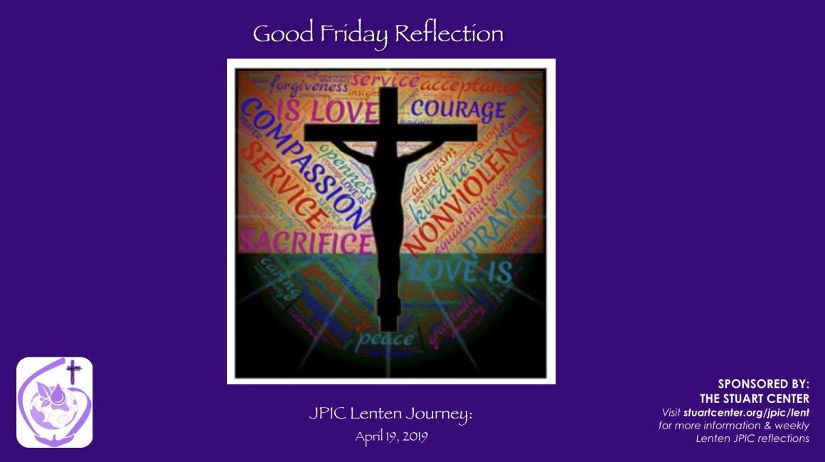 JPIC Lenten Journey: Good Friday