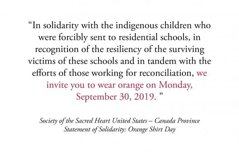 Statement of Solidarity: Orange Shirt Day