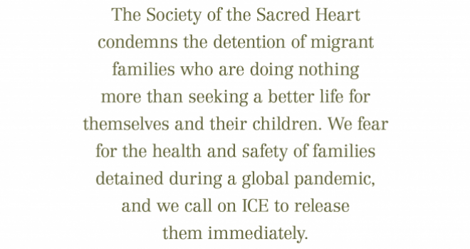 Statement on migrant family detentions.