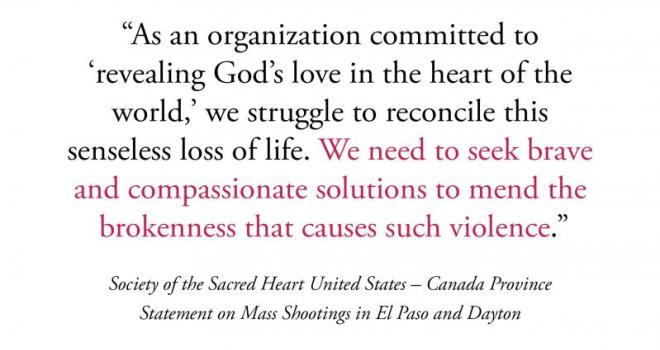Statement on Mass Shootings in El Paso and Dayton
