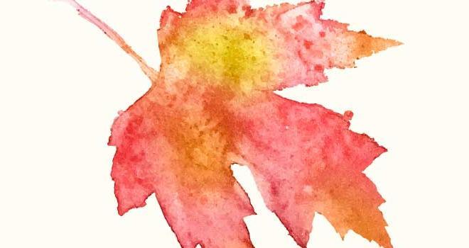 Poem with leaf illustrations.