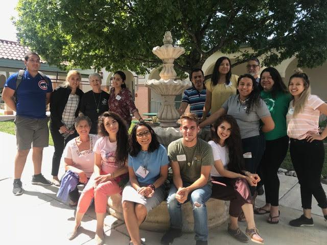 Reyna Gonzalez with participants in the Compassionate Leadership workshop