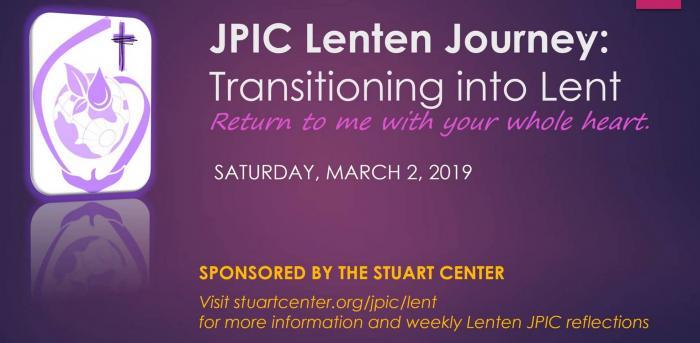 JPIC Lenten Journey Begins