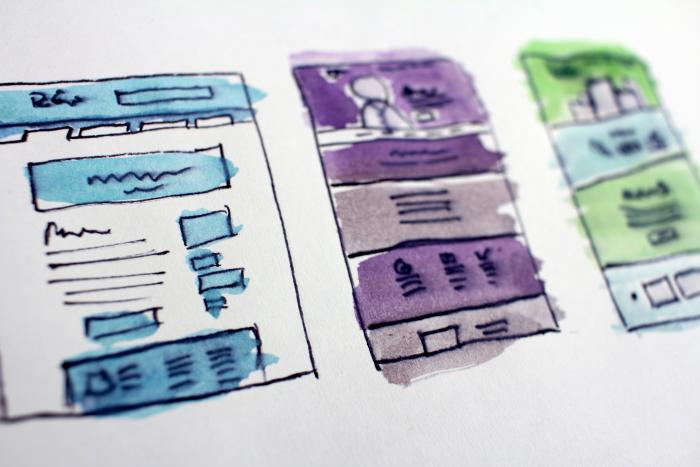 Web design wireframes