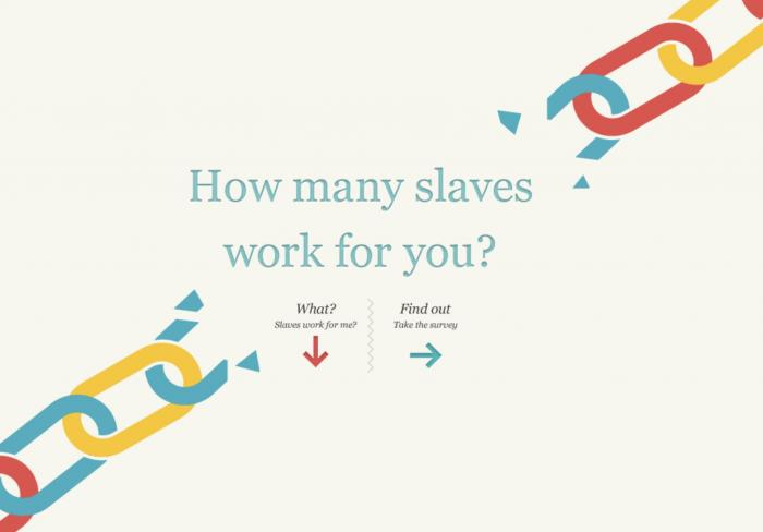 Slavery Footprint (screenshot)